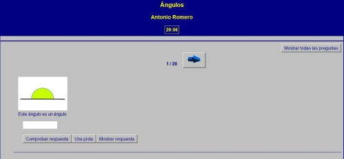 LOS ÁNGULOS. AUTOEVALUACIÓN