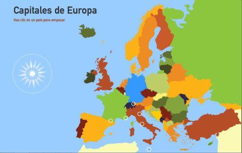 Capitales de países de Europa. Dibujos para pintar