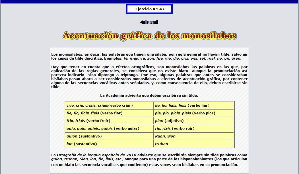 ACENTUACIÓN GRÁFICA DE MONOSÍLABOS
