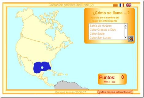 COSTAS DE AMÉRICA DEL NORTE