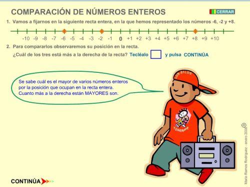 COMPARACIÓN DE NÚMEROS ENTEROS.