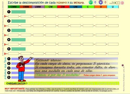 DESCOMPOSICIÓN DE NÚMEROS DE HASTA 9 CIFRAS