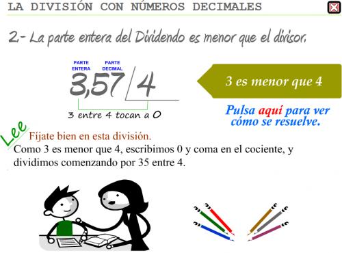 Divisiones números decimales.