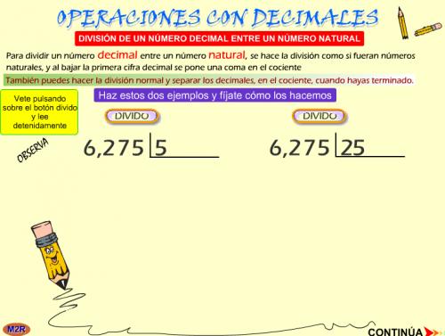 TEMA 9: DIVISIÓN DE NÚMEROS DECIMALES | JUGANDO Y APRENDIENDO