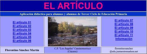 http://cplosangeles.juntaextremadura.net/web/lengua5/articulo/indice.htm