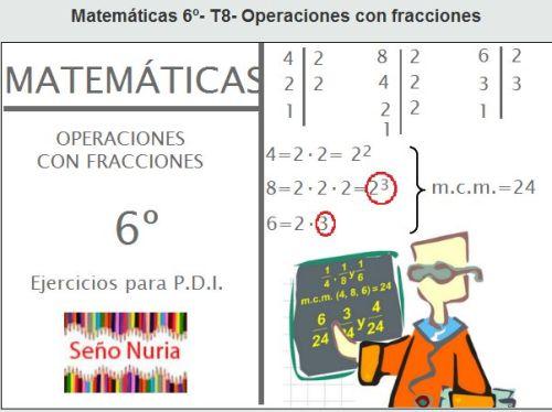 TEMA 7: OPERACIONES CON FRACCIONES | JUGANDO Y APRENDIENDO