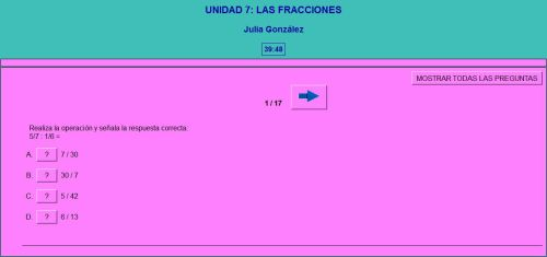 LAS FRACCIONES. AUTOEVALUACIÓN