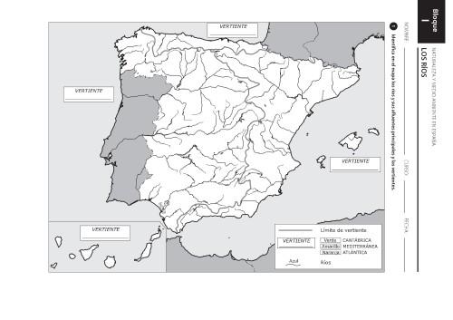 Mapa Hidrografico De España Mudo.Mapas De Espana Fisicos Politicos Y Mudos Jugando Y