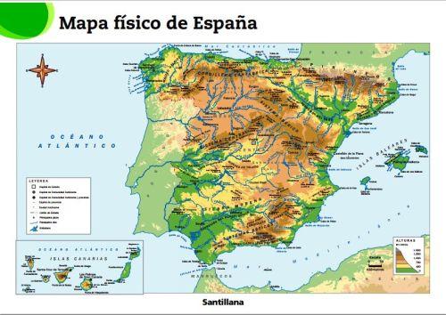 Mapas De Espana Fisicos Politicos Y Mudos Jugando Y Aprendiendo