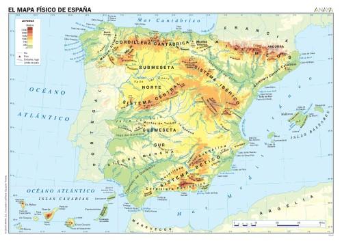 Relleus i rius d'Espanya