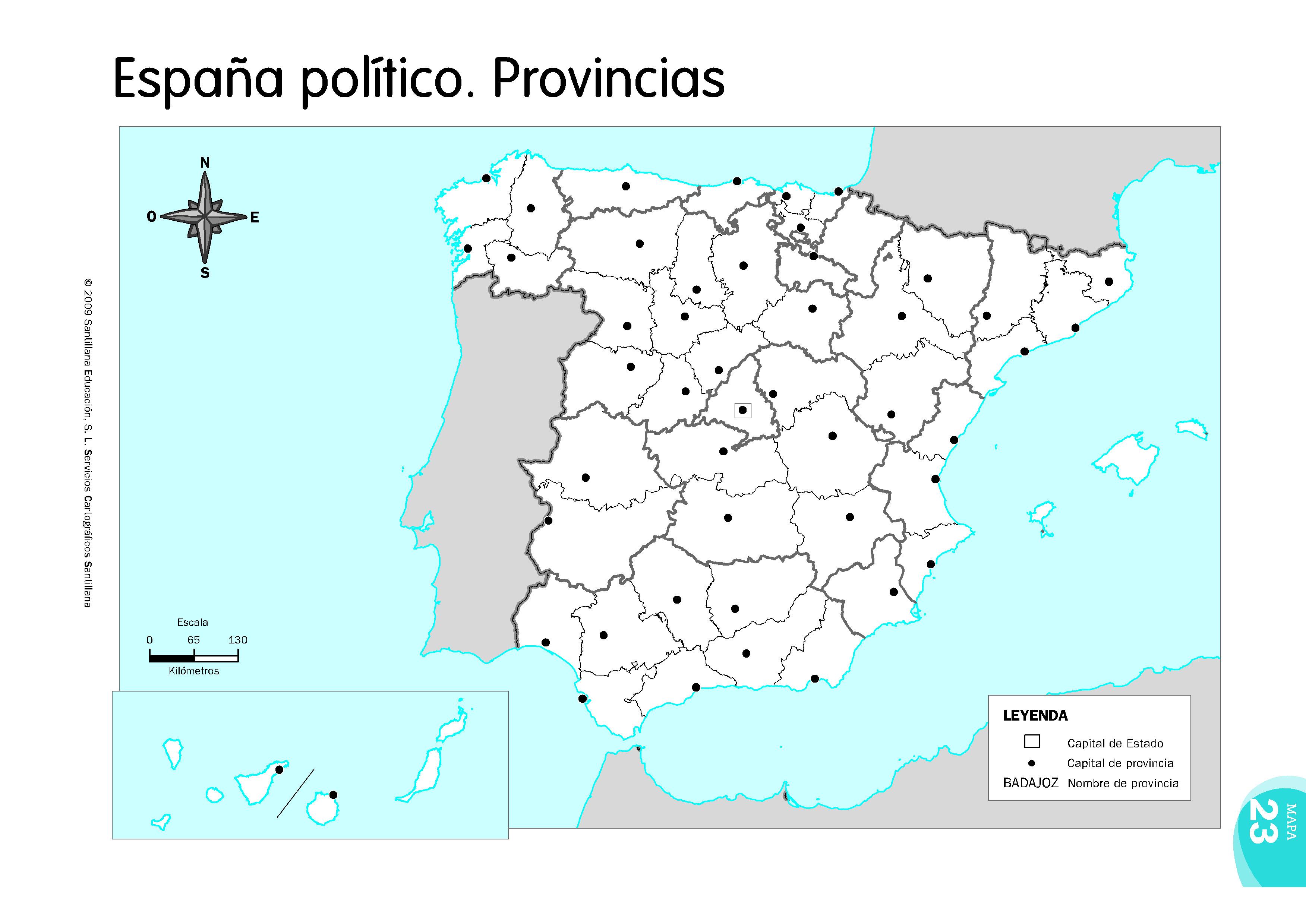 Mapa Mudo Comunidades Autonomas España Para Imprimir.La Escuela En Infantil Y Primaria Geografia De Espana Y