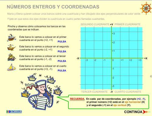NÚMEROS ENTEROS Y COORDENADAS
