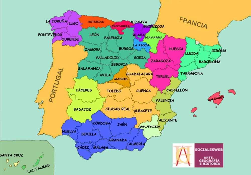 MAPAS DE ESPAÑA. FÍSICOS, POLÍTICOS Y MUDOS (4/6)