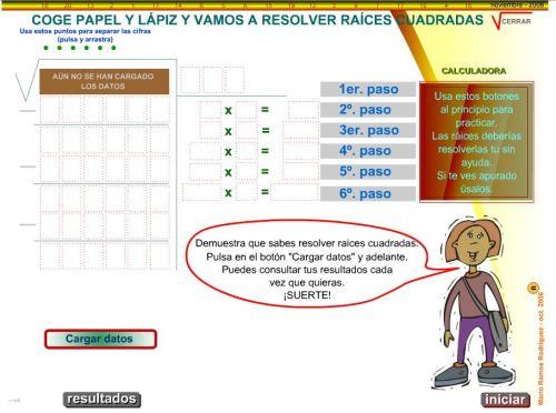 RAÍCES CUADRADAS DE 6 CIFRAS