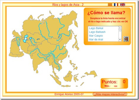 RÍOS Y LAGOS DE ASIA. MAPA INTERACTIVO2