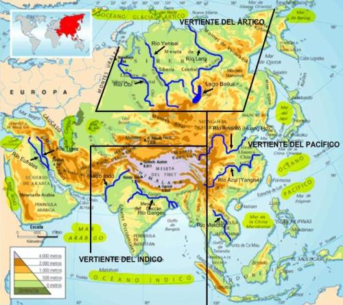 Ríos y Lagos de Asia