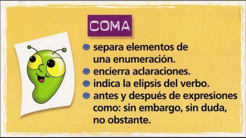 Resultado de imagen de la coma y el punto y coma