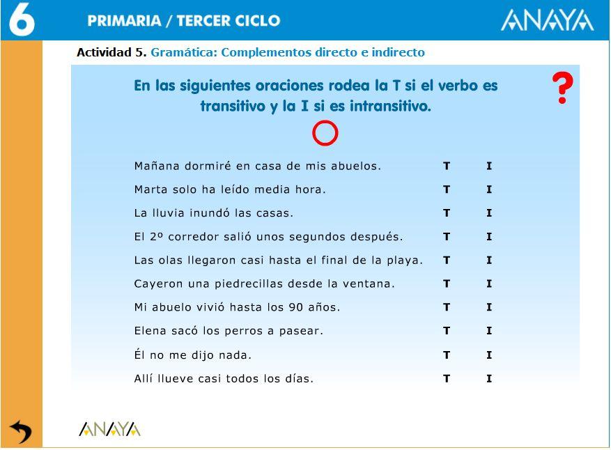 EL COMPLEMENTO DIRECTO E INDIRECTO (6/6)