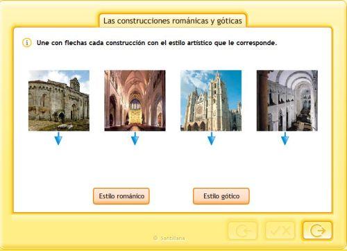 CONSTRUCCIONES ROMÁNICAS Y GÓTICAS