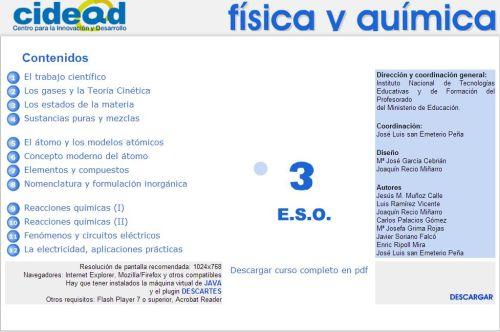 CURSO COMPLETO DE FÍSICA Y QUÍMICA 3º DE ESO