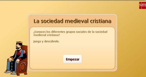 LA SOCIEDAD MEDIEVAL CRISTIANA