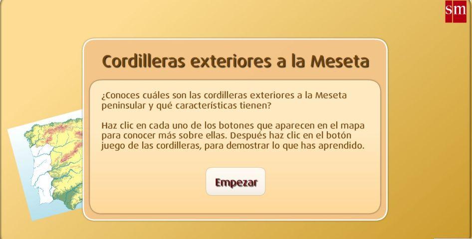 CORDILLERAS EXTERIORES A LA MESETA. JUEGO