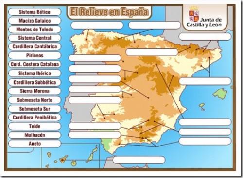 Mapas Interactivos Montañas Españolas Jugando Y Aprendiendo