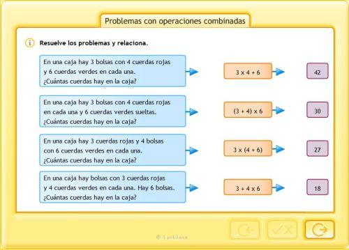 8.OPERACIONES COMBINADAS   JUGANDO Y APRENDIENDO