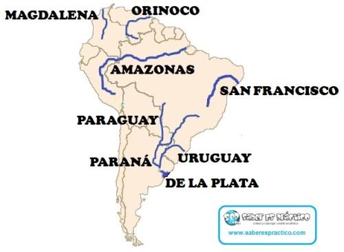 Ríos. América del Sur (principales)