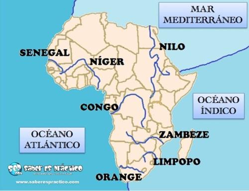 Ríos de África (mapa)