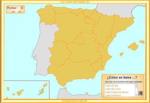 Cabos De España Mapa Interactivo.Costas De Espana Mapas Interactivos Jugando Y Aprendiendo