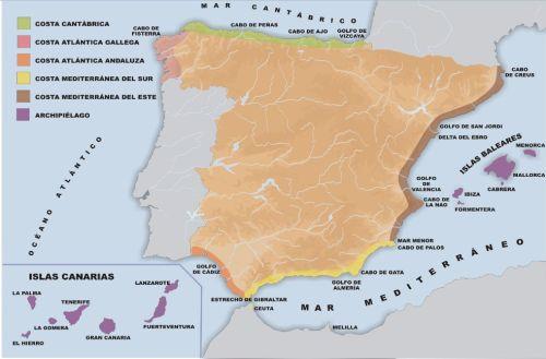 Costas De España Mapa.Las Costas De Espana Jugando Y Aprendiendo