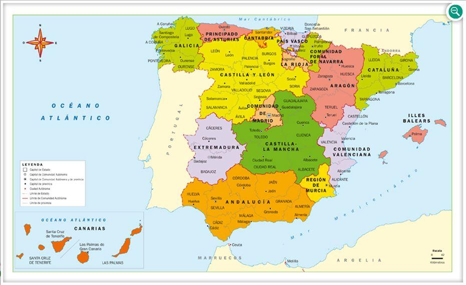 MAPAS DE ESPAÑA. FÍSICOS, POLÍTICOS Y MUDOS (2/6)