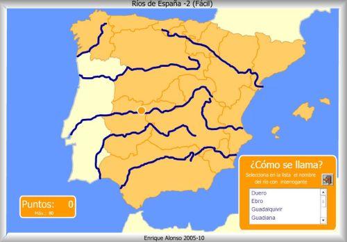 Mapa Rios De España 6 Primaria.Rios De Espana Mapas Y Mapas Interactivos Jugando Y