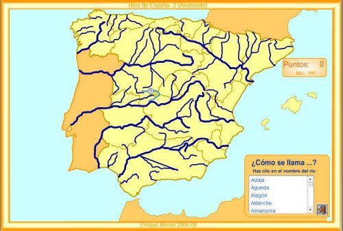 Rios España Mapa Fisico.Rios De Espana Mapas Y Mapas Interactivos Jugando Y