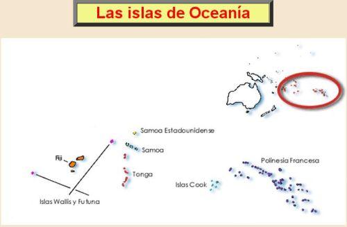 ISLAS DE OCEANÍA