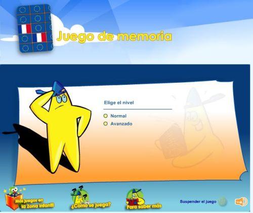 JUEGO DE MEMORIA. UNIÓN EUROPEA