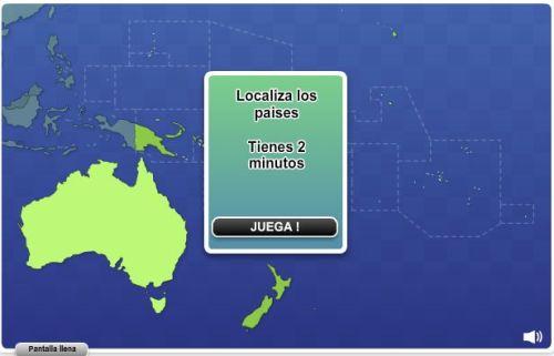 JUEGO. GEOGRAFÍA DE OCEANÍA