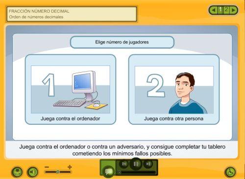 JUEGO.ORDENAR DECIMALES