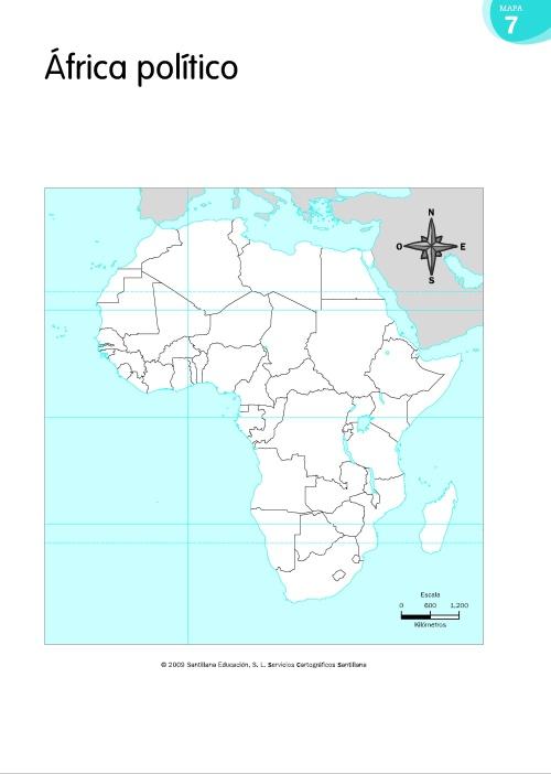 MAPA MUDO POLÍTICO DE ÁFRICA