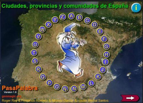 PASAPALABRA..CIUDADES,PROVINCIAS Y COMUNIDADES