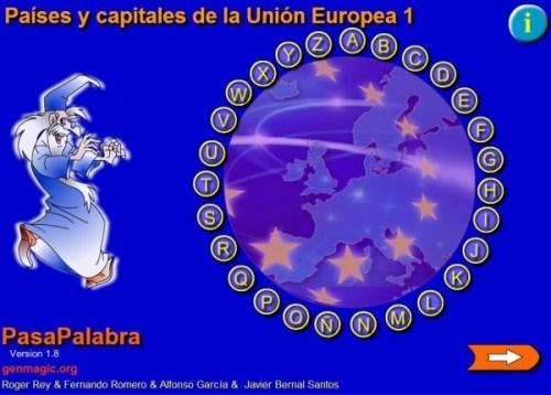 PASAPALABRA DE PAÍSES Y CAPITALES DE LA UNIÓN EUROPEA