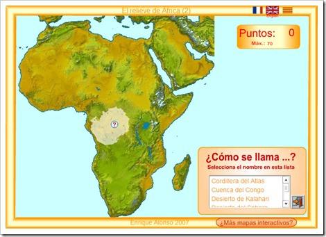 RELIEVE DE ÁFRICA 2. MAPA INTERACTIVO