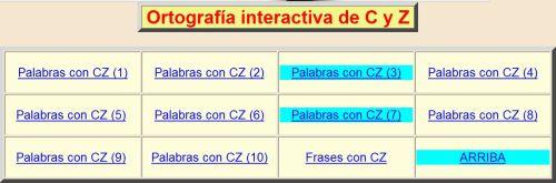 USO DE LA C Y DE LA Z. ORTOGRAFÍA INTERACTIVA