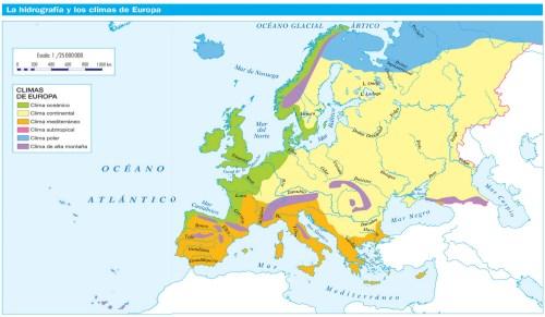 HIDROGRAFÍA Y CLIMAS DE EUROPA