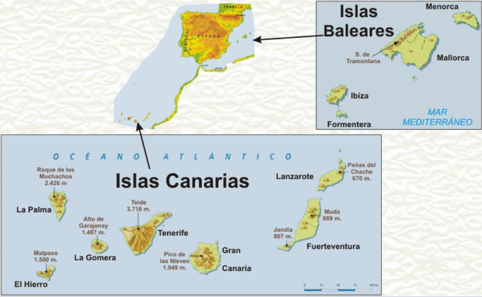 Blog de aula de 6a conocimiento la costa mares y - Baleares y canarias ...