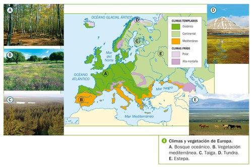 MAPA.CLIMAS DE EUROPA