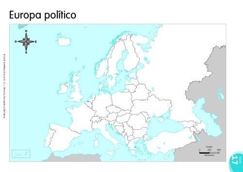 MAPAS FSICOS POLTICOS Y MUDOS DE EUROPA  JUGANDO Y APRENDIENDO