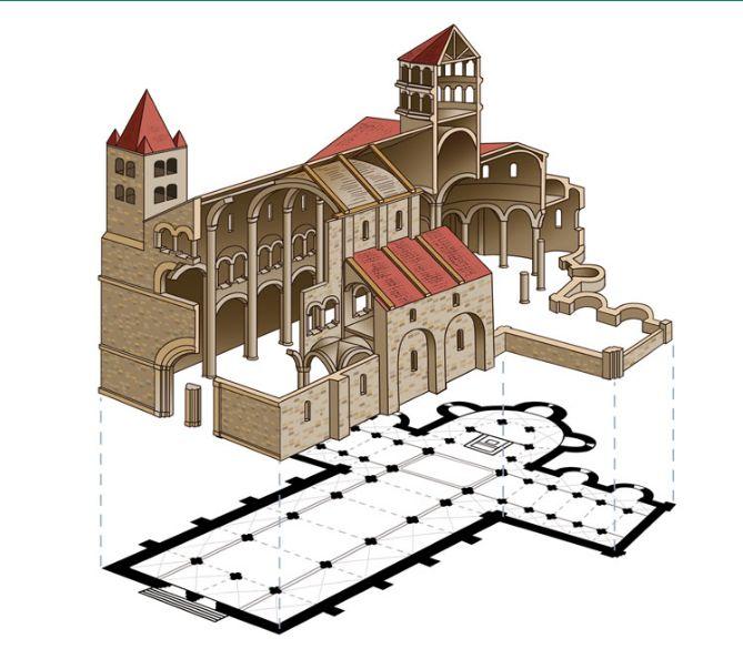 Cultura y arte en la edad media jugando y aprendiendo for Interior iglesia romanica