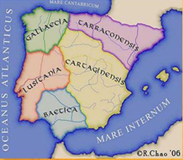 DIVISIÓN DE ESPAÑA EN LA ÉPOCA VISIGODA